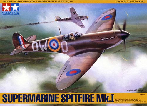 スーパーマリン スピットファイア Mk.1プラモデル(タミヤ1/48 傑作機シリーズNo.032)商品画像
