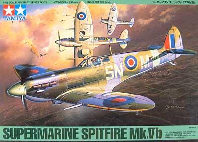 スーパーマリン スピットファイア Mk.Vbプラモデル(タミヤ1/48 傑作機シリーズNo.033)商品画像