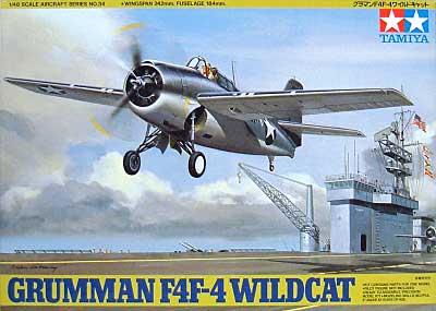 グラマン F4F-4 ワイルドキャットプラモデル(タミヤ1/48 傑作機シリーズNo.034)商品画像