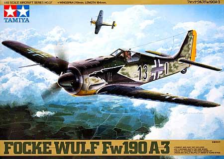 フォッケウルフ Fw190A-3プラモデル(タミヤ1/48 傑作機シリーズNo.037)商品画像