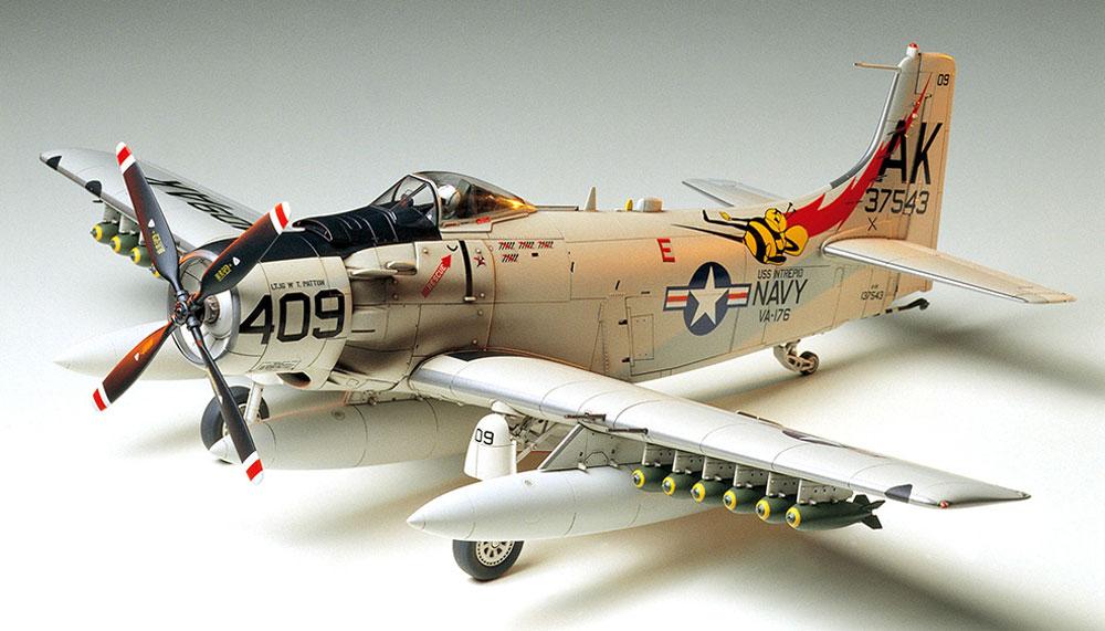 ダグラス A-1H スカイレーダー アメリカ海軍プラモデル(タミヤ1/48 傑作機シリーズNo.058)商品画像_2