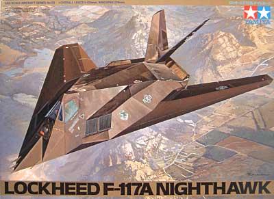 ロッキード F-117A ナイトホークプラモデル(タミヤ1/48 傑作機シリーズNo.059)商品画像