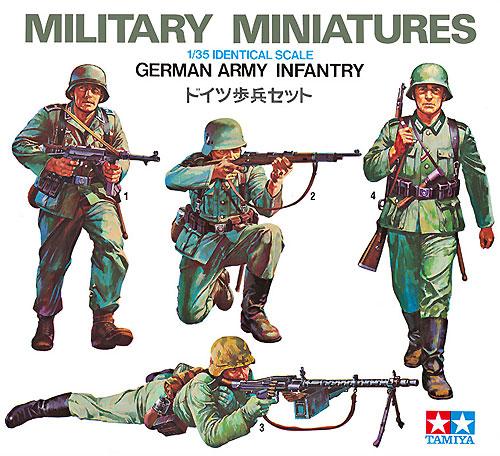 ドイツ歩兵セットプラモデル(タミヤ1/35 ミリタリーミニチュアシリーズNo.002)商品画像