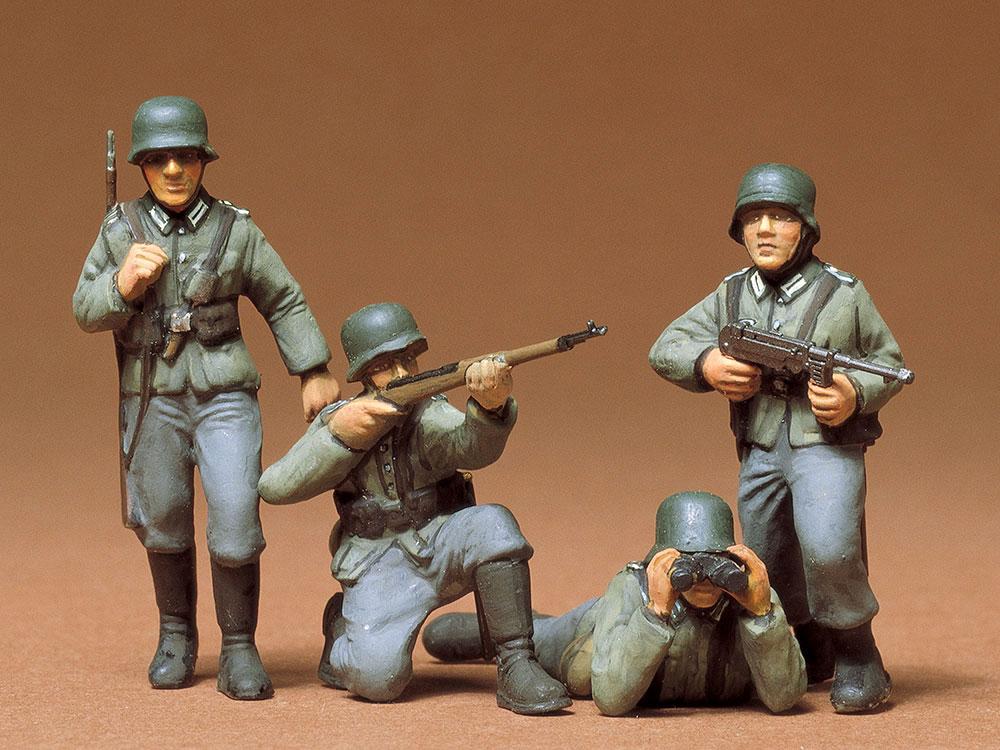 ドイツ歩兵セットプラモデル(タミヤ1/35 ミリタリーミニチュアシリーズNo.002)商品画像_2