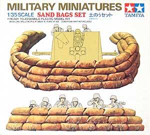 土のうセットプラモデル(タミヤ1/35 ミリタリーミニチュアシリーズNo.025)商品画像