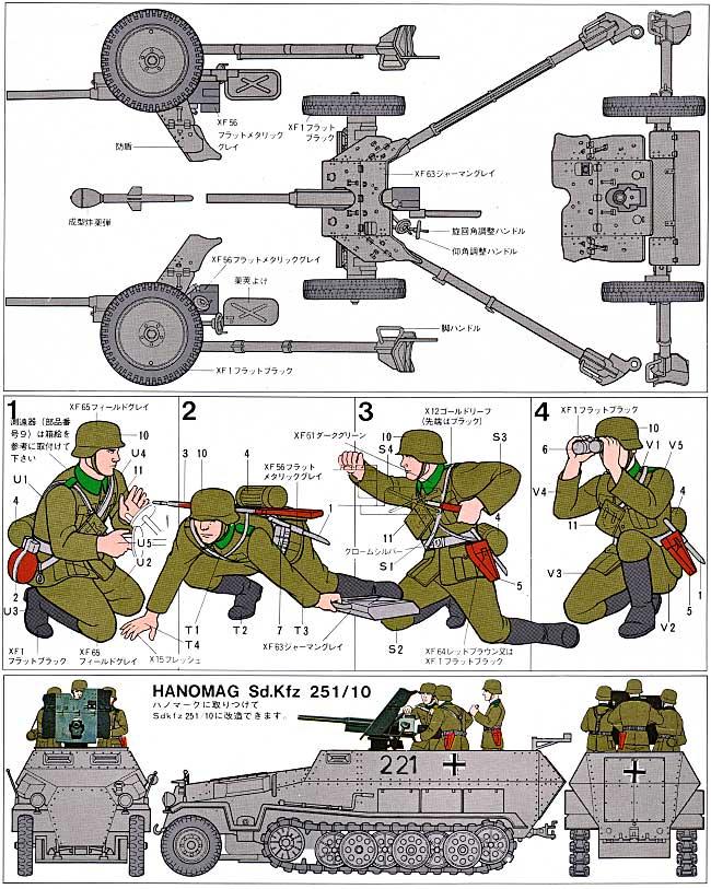 ドイツ 37mm対戦車砲プラモデル(タミヤ1/35 ミリタリーミニチュアシリーズNo.035)商品画像_2