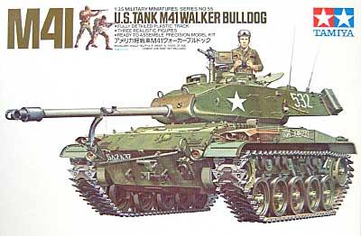 アメリカ軽戦車 M41 ウォーカーブルドッグ戦車プラモデル(タミヤ1/35 ミリタリーミニチュアシリーズNo.055)商品画像