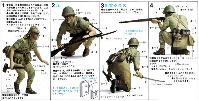 日本陸軍歩兵セットプラモデル(タミヤ1/35 ミリタリーミニチュアシリーズNo.090)商品画像_2