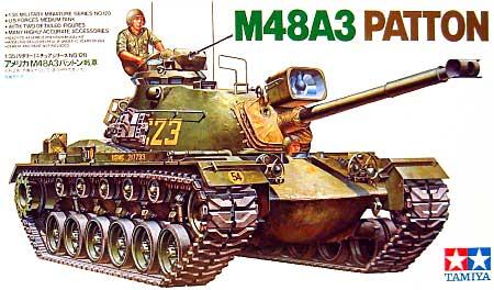 アメリカ M48A3 パットン戦車プラモデル(タミヤ1/35 ミリタリーミニチュアシリーズNo.120)商品画像