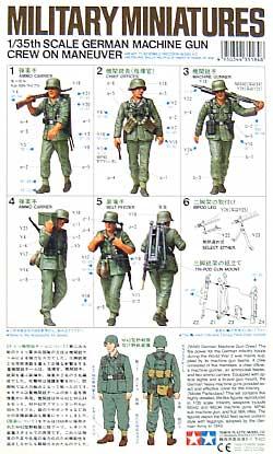 ドイツ 機関銃チーム行軍セットプラモデル(タミヤ1/35 ミリタリーミニチュアシリーズNo.184)商品画像_1