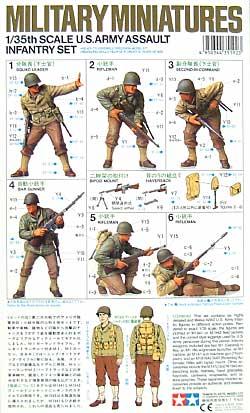 アメリカ歩兵攻撃セットプラモデル(タミヤ1/35 ミリタリーミニチュアシリーズNo.192)商品画像_1