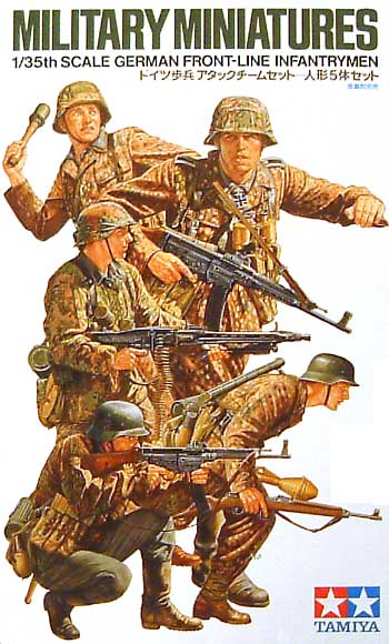 ドイツ歩兵アタックチームセットプラモデル(タミヤ1/35 ミリタリーミニチュアシリーズNo.196)商品画像