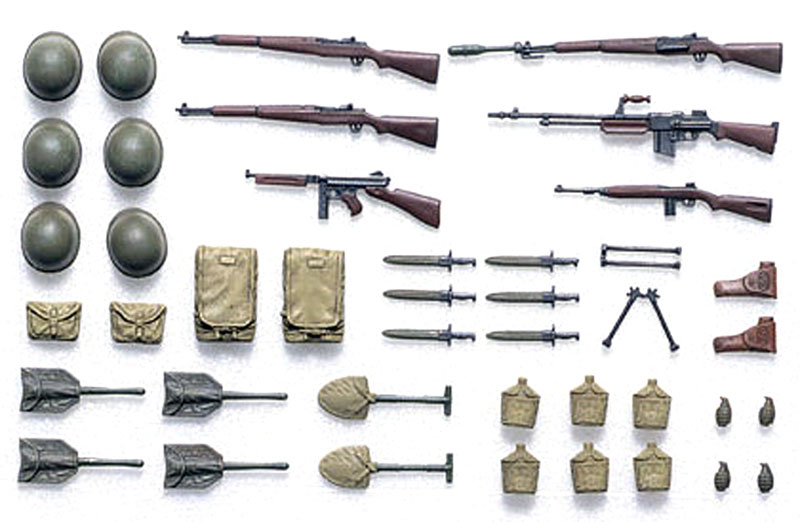 アメリカ歩兵装備品セットプラモデル(タミヤ1/35 ミリタリーミニチュアシリーズNo.206)商品画像_3