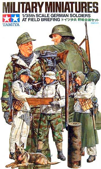 ドイツ歩兵 野戦会議セットプラモデル(タミヤ1/35 ミリタリーミニチュアシリーズNo.212)商品画像