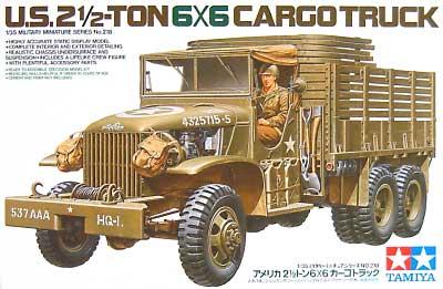 アメリカ 2 1/2トン 6×6カーゴトラックプラモデル(タミヤ1/35 ミリタリーミニチュアシリーズNo.218)商品画像
