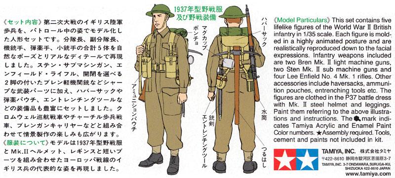 イギリス歩兵 巡回セットプラモデル(タミヤ1/35 ミリタリーミニチュアシリーズNo.223)商品画像_2