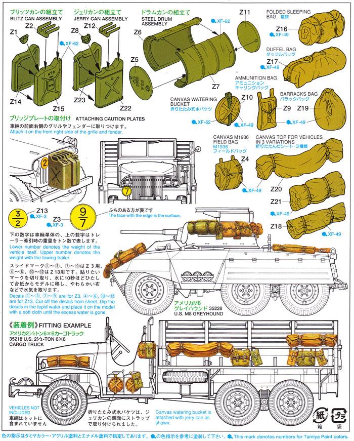 連合軍車両アクセサリーセットプラモデル(タミヤ1/35 ミリタリーミニチュアシリーズNo.229)商品画像_1