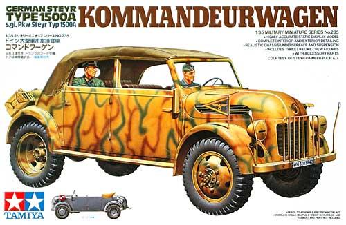 ドイツ 大型軍用指揮官車 コマンドワーゲンプラモデル(タミヤ1/35 ミリタリーミニチュアシリーズNo.235)商品画像