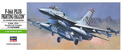 F-16A プラス ファイティング ファルコン (アメリカ空軍 戦術戦闘機)プラモデル(ハセガワ1/72 飛行機 BシリーズNo.B001)商品画像