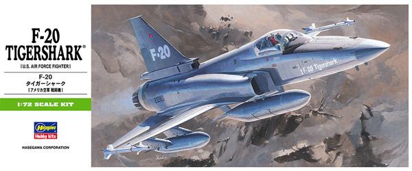 F-20 タイガーシャークプラモデル(ハセガワ1/72 飛行機 BシリーズNo.B003)商品画像