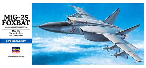 MiG-25 フォックスバットプラモデル(ハセガワ1/72 飛行機 DシリーズNo.D004)商品画像