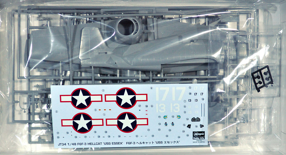 F6F-3 ヘルキャット USS エセックスプラモデル(ハセガワ1/48 飛行機 JTシリーズNo.JT034)商品画像_1
