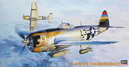 P-47D-25 サンダーボルトプラモデル(ハセガワ1/48 飛行機 JTシリーズNo.JT040)商品画像