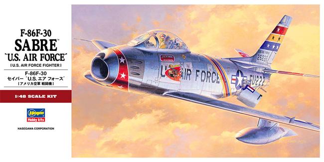 F-86F-30 セイバー U.S.エアフォースプラモデル(ハセガワ1/48 飛行機 PTシリーズNo.PT013)商品画像