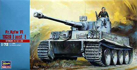 6号戦車 タイガー1型 (Pz.Kpfw.6 ausf.E)プラモデル(ハセガワ1/72 ミニボックスシリーズNo.MT008)商品画像
