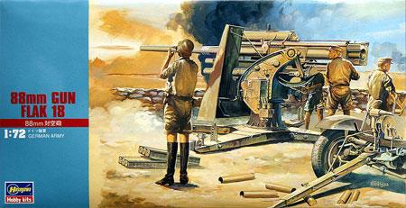 88mm 対空砲 Flak18プラモデル(ハセガワ1/72 ミニボックスシリーズNo.MT010)商品画像
