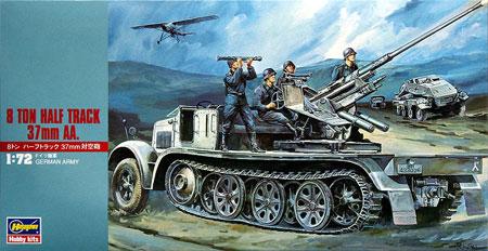 8トンハーフトラック 37mm対空砲プラモデル(ハセガワ1/72 ミニボックスシリーズNo.MT018)商品画像
