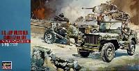 ハセガワ1/72 ミニボックスシリーズウイリス MB ジープ/カーゴ/37mm砲