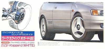 ワーク エクイップ ヴォガード(ホワイト) (17インチ)プラモデル(フジミ1/24 タイヤ&ホイールNo.IU034)商品画像