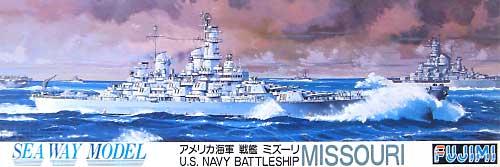 アメリカ海軍 戦艦 ミズーリプラモデル(フジミ1/700 シーウェイモデルNo.021)商品画像
