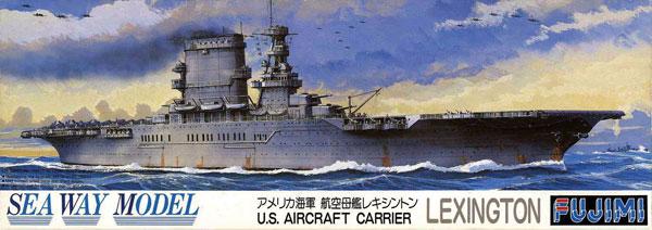 アメリカ海軍 航空母艦 レキシントンプラモデル(フジミ1/700 シーウェイモデルNo.024)商品画像