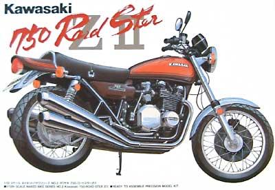 カワサキ 750 ロードスター Z2プラモデル(アオシマ1/12 バイクNo.002)商品画像