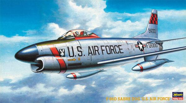 F-86D セイバードッグ U.S.エアフォースプラモデル(ハセガワ1/72 飛行機 BPシリーズNo.BP005)商品画像