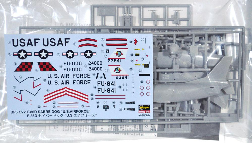 F-86D セイバードッグ U.S.エアフォースプラモデル(ハセガワ1/72 飛行機 BPシリーズNo.BP005)商品画像_1