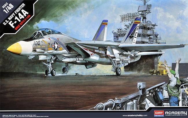 U.S. NAVY FIGHTER F-14A トムキャットプラモデル(アカデミー1/48 AircraftsNo.12253)商品画像