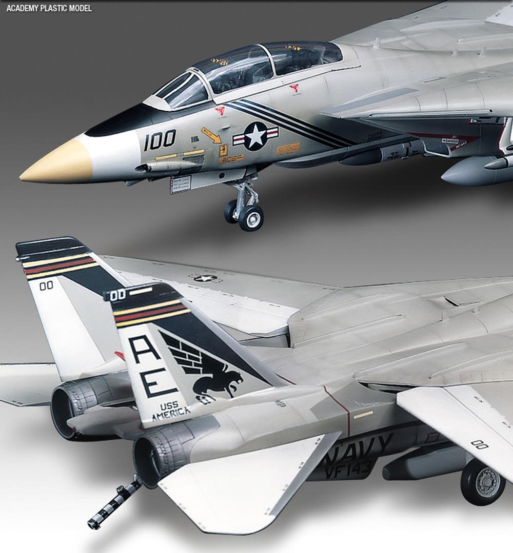 U.S. NAVY FIGHTER F-14A トムキャットプラモデル(アカデミー1/48 AircraftsNo.12253)商品画像_4