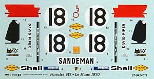ポルシェ 917K サンデマン ル・マン 1970デカール(スタジオ27ツーリングカー/GTカー オリジナルデカールNo.DC685C)商品画像