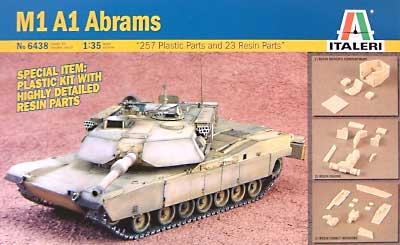 M1A1 エイブラムス (内部再現キット)プラモデル(イタレリ1/35 ミリタリーシリーズNo.6438)商品画像