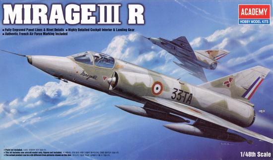ダッソー ミラージュ 3Rプラモデル(アカデミー1/48 AircraftsNo.12248)商品画像