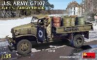 ミニアート1/35 WW2 ミリタリーミニチュアアメリカ陸軍 G7107 4X4 1.5t カーゴトラック