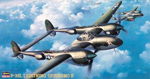 P-38L ライトニング ジェロニモ 2プラモデル(ハセガワ1/48 飛行機 JTシリーズNo.JT002)商品画像
