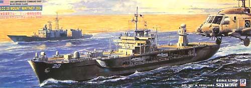 現用アメリカ軍 揚陸指揮艦 LCC-20 マウント・ホイットニー (2004年)プラモデル(ピットロード1/700 スカイウェーブ M シリーズNo.M025)商品画像