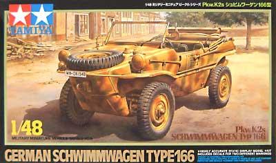 Pkw.K2s シュビムワーゲン 166型プラモデル(タミヤ1/48 ミリタリーミニチュアシリーズNo.006)商品画像