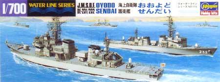 海上自衛隊 護衛艦 おおよど・せんだい (DE231・232)(2艦セット)プラモデル(ハセガワ1/700 ウォーターラインシリーズNo.014)商品画像
