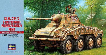 Sd.Kfz.234/2 8輪重装甲偵察車 プーマプラモデル(ハセガワ1/72 ミニボックスシリーズNo.MT052)商品画像