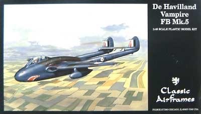デ・ハビランド バンパイア FB.5プラモデル(クラシックエアフレーム1/48 ミリタリーエアクラフト プラモデルNo.470)商品画像